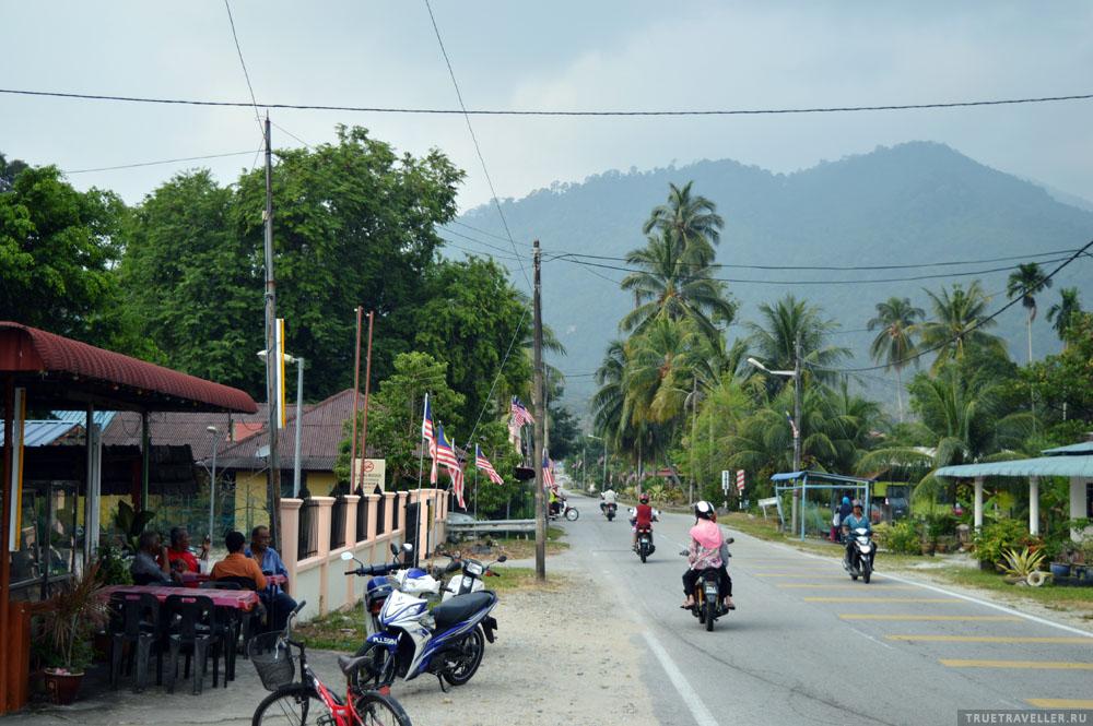 В районе Balik Pulau, на другой стороне Пенанга.